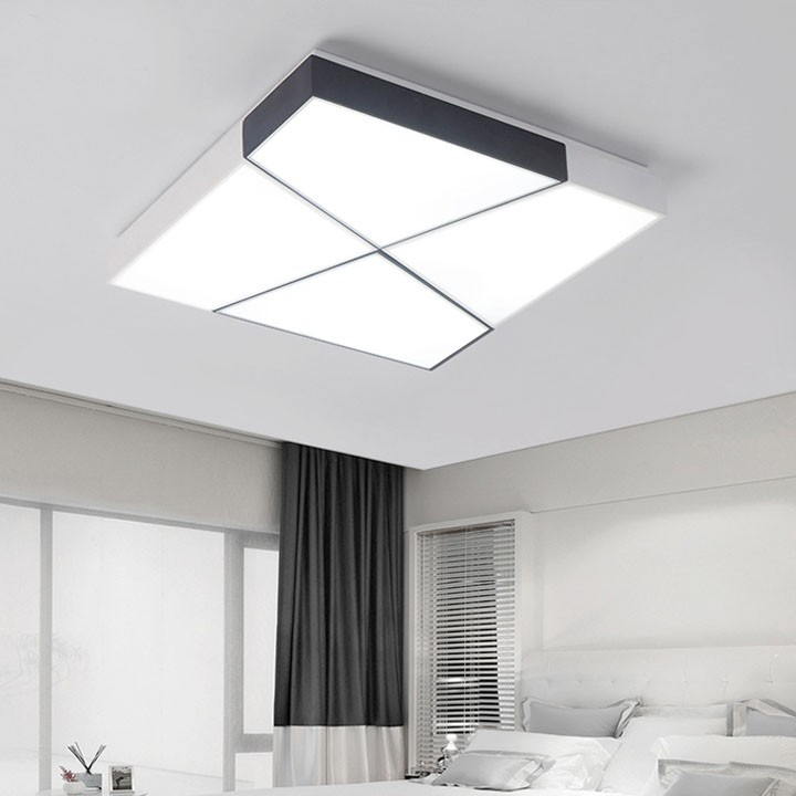 Đèn led ốp trần trang trí phòng ngủ dạng hộp vuông 60cm có điều khiển (ĐÈN HIỆN ĐẠI MẪU MỚI 2020)