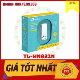 """[Giảm 2% nhập """"TAPHCLMC5"""" ] USB kết nối Wifi Kết nối ổn định TP-Link N 300Mbps TL-WN821N – Hàng Chính Hãng"""