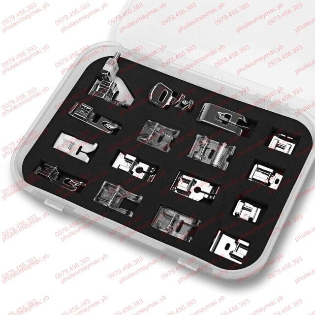 Bộ 16 chân vịt máy may gia đình- có hộp như hình