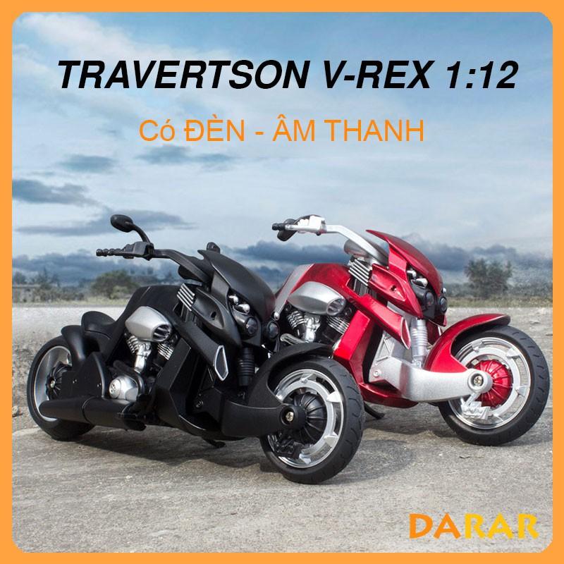 MÔ HÌNH XE MOTO Khủng Long TRAVERTSON V-REX | HUAYI MODEL tỷ lệ 1:12