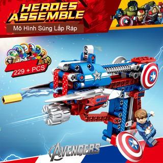 [SALE TẾT] Bộ Lắp Ráp Kiểu Lego Mô Hình Súng AVENGERS 229 Mảnh Ghép