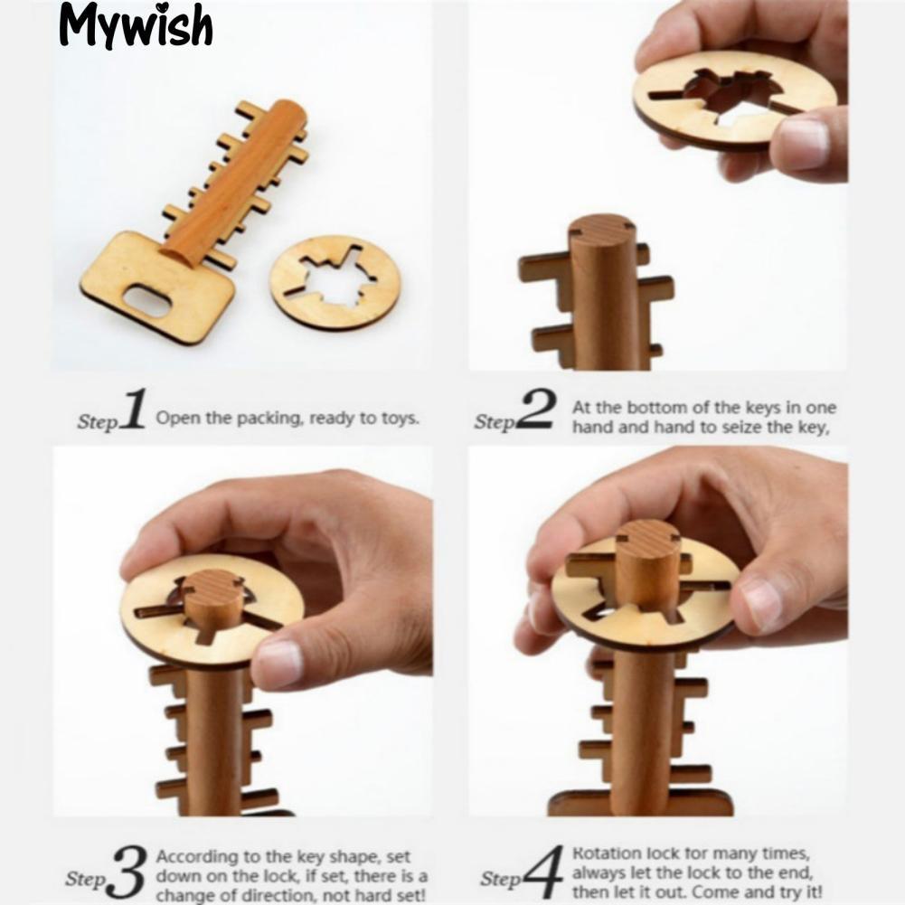 🏆Wooden Unlock Key Kong Ming Luban Lock Adults Kids Puzzle Educational New Toy
