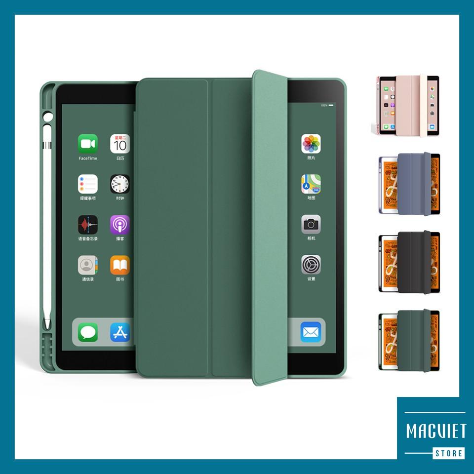 Bao Da iPad, Ốp iPad Có Khay Đựng Bút Tích Hợp  Màu Pastel