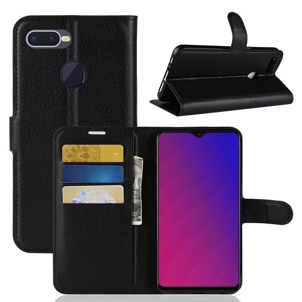 OPPO F9 / F9 Pro Case Leather Flip cover with Stand Card Slot Wallet phone Case