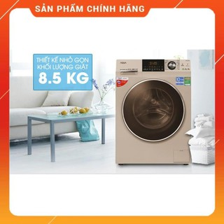 [ VẬN CHUYỂN MIỄN PHÍ KHU VỰC HÀ NỘI ] Máy giặt Aqua cửa ngang 8.5 kg màu vàng kim AQD-DD850A.N - [ Bmart247 ]