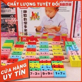 Bộ đồ chơi domino kèm học toán 110 chi tiết