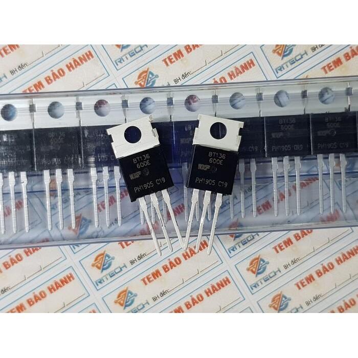 [Combo 15 chiếc] BT136-600E, BT136 TO-220 TRIAC 4A/600V