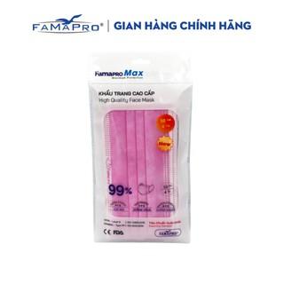 Khẩu trang y tế cao cấp kháng khuẩn 4 lớp Famapro max màu hồng (10 cái túi) thumbnail