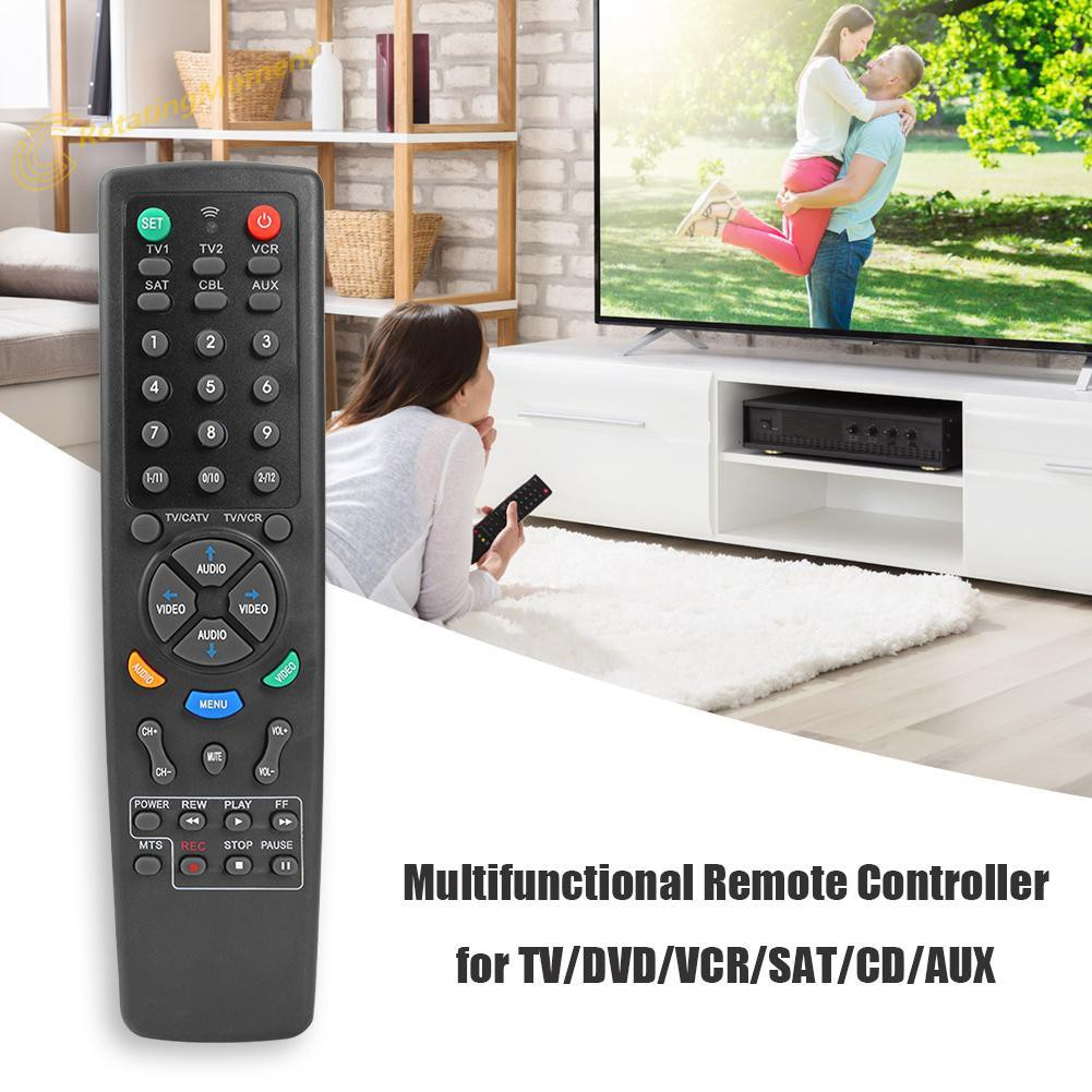 6 in 1 Multifunction Universal Remote Control for TV DVD VCR SAT CD AUX