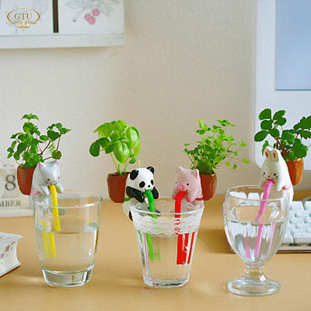 Chậu trồng cây bằng sứ tự động mini