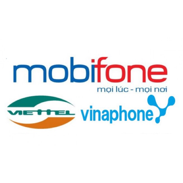 Thẻ cào Mobi, Vina, Viettel
