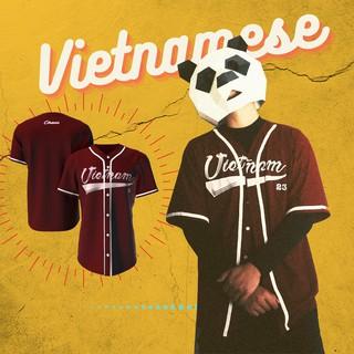 Áo bóng chày đỏ Vietnamese (có ảnh thật) – FREESHIP