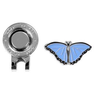 Pro Ladies Butterfly Metal Magnetic Cap Clip For Golf Ball Marker Accessories