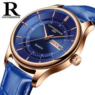 Đồng hồ nam Ontheedge RZY029 dây da thời trang Fullbox chính hãng thumbnail