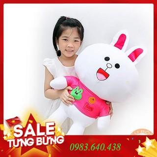 Gấu Bông Gối Ôm Thỏ Cony áo Hồng 70cm