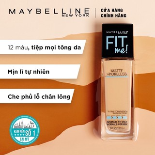 Kem Nền Mịn Lì Maybelline Fit Me Matte Poreless Foundation Pump 30ml thumbnail