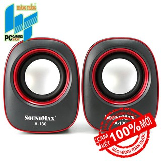 Loa Soundmax A130 (2.0) (đỏ/xanh)