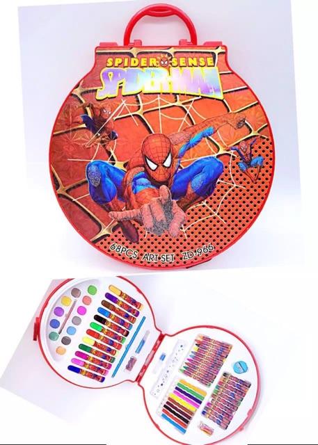 Hộp màu tròn Spider man