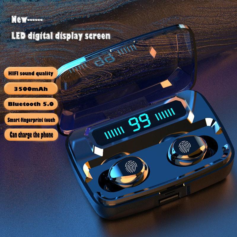Tai Nghe Bluetooth F9 Tws Bluetooth 5.0 LED Màn Hình Kỹ Thuật Số