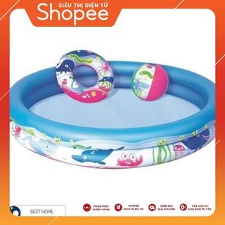 [ẢNH THẬT] Bể bơi phao cho bé 3 chi tiết + xúc cát + bộ câu cá + 100 bóng ( banh )