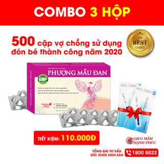 COMBO 3 HỘP PHƯỢNG MẪU ĐAN 40 viên TIẾT KIỆM 110K điều hòa kinh nguyệt, bổ trứng, dày niêm mạc, tăng khả năng thụ thai