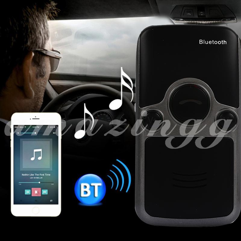 Handsfree Sun Visor Wireless Transmitter Bluetooth Smart Music Car Kit