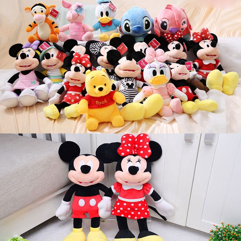 9 Inch Disney Mickey Minnie Mouse Doll Plush Toy Pooh Bear Doll