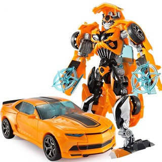 18.5cm Plastic Transformation Robot Car Action Toy – Yellow
