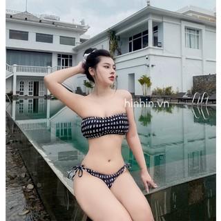 Set bikini kẻ ( Hai mảnh đồ bơi cao cấp )