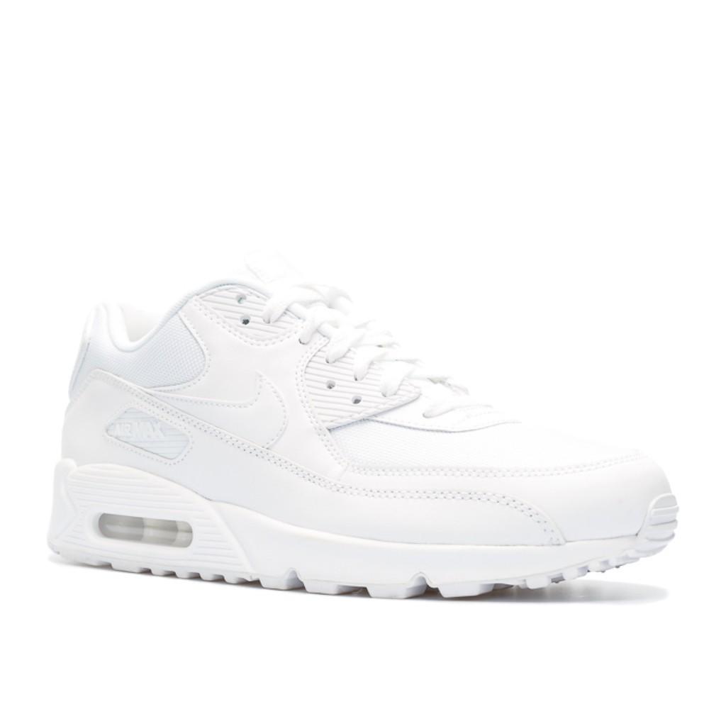 wholesale dealer 3c1a4 d8199 Nike Air Max 90 Essential White - รองเท้าไนกี้แอแม็ค 90 สีขาวล้วน  รองเท้าผ้าใบ กีฬา รองเท้าวิ่งของทั้งผู้ชายและหญิง RC28