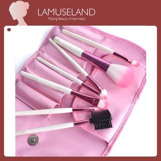LAMUSELAND Set 7 cọ trang điểm chuyên dụng dành cho nữ 1507 mỹ phẩm lamuseland chính hãng-1