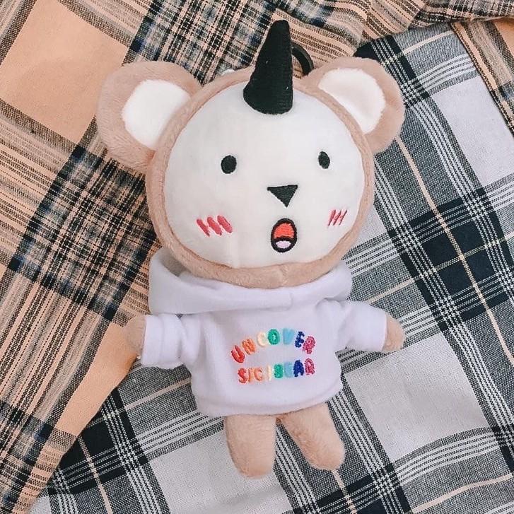 Gấu Bông Sici Uncover dễ thương ( Đen, Hồng , Trắng )
