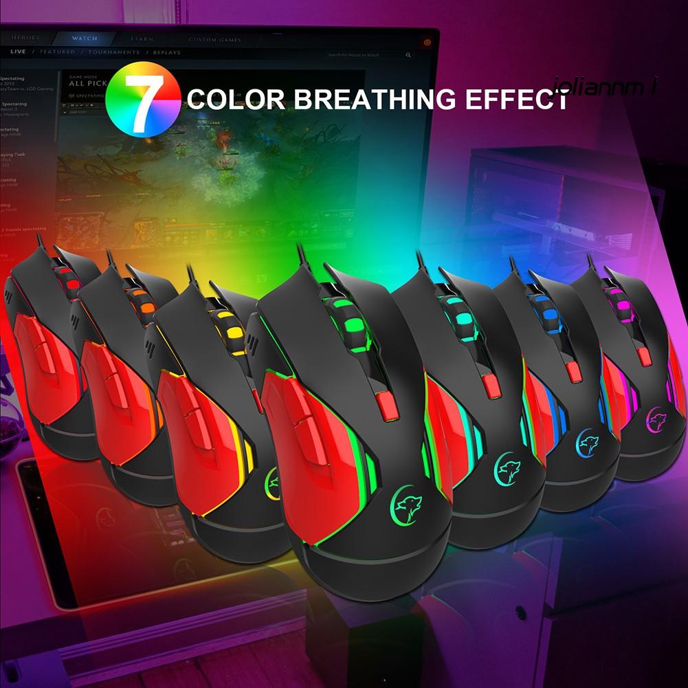Chuột Chơi Game Có Dây Tích Hợp Đèn Led Nhiều Màu