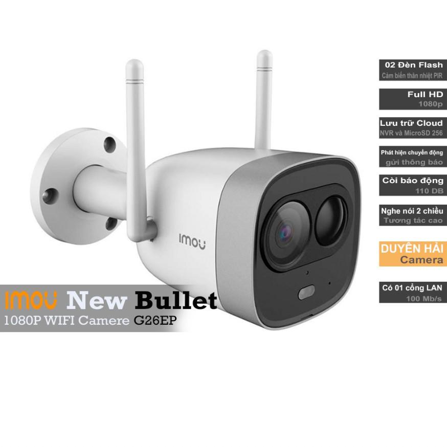 Camera IP WiFi Ngoài Trời IMOU (G26EP) 2.0 MP full HD(1920x1080) TF3 Còi Hú, Flash cảnh báo Ban Đêm