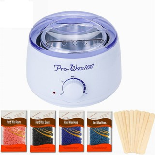 Nồi nấu wax sáp hạt đậu tẩy lông chuyên dụng triệt lông tặng kèm sáp que- thiết bị tẩy lông combo nồi wax pro 100