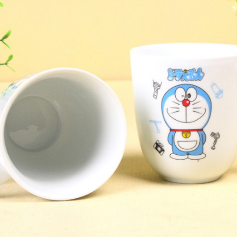 Cốc sứ Doraemon kèm thìa - Đồ gia dụng