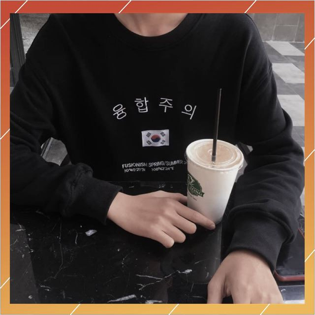 [ Hot Trend ] Áo sweater cờ Hàn Quốc ( Áo dài tay )