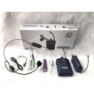 Micro đa năng không dây đeo tai  w14a trợ giảng thuyết trình livestream bán hàng phù hợp nhiều thiết bị âm thanh
