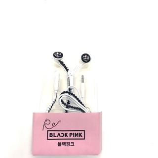 [Ảnh Thật] Tai Nghe Black Pink - Có Nút Dừng Phát Nhạc Dây Kéo 2 Màu thumbnail