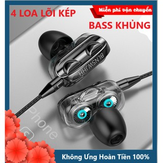 [HÀNG HOT] Tai Nghe Nhét Tai Bản Nâng Cấp Fonge WJHH Super Bass 2020 New Thế Hệ Mới - Tặng Bao Da