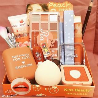 Bộ Trang điểm Kiss Beauty So cute, gồm 11 món makeup siêu xinh. Tặng kèm cho Nàng 1 túi đựng mỹ phẩm chông nước. thumbnail