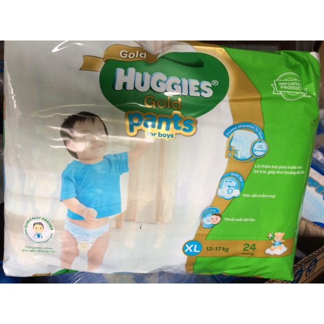 Tã quần Huggies Gold XL24