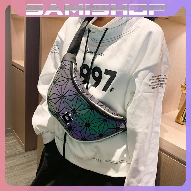 Túi đeo chéo nam nữ bao tử phản quang đựng điện thoại và đi du lịch phong cách Hàn Quốc TD2424