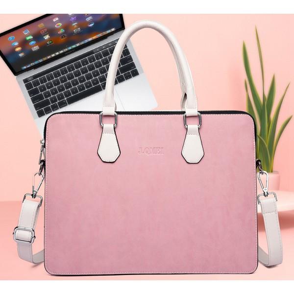 Túi CHỐNG SỐC Laptop Nữ, Da PU Siêu Bền Cao Cấp
