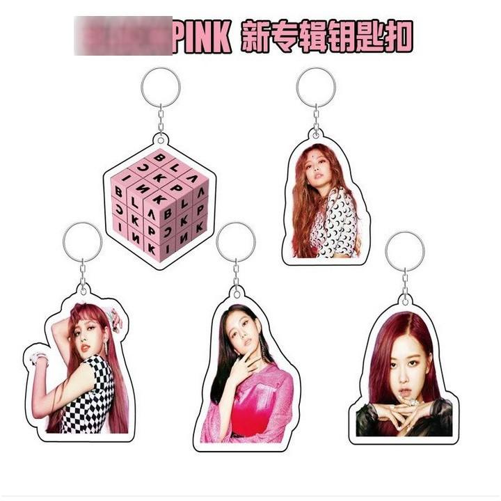 Móc khóa Blackpink Lisa Jisoo Jennie Rose móc khóa acrylic móc khóa mica