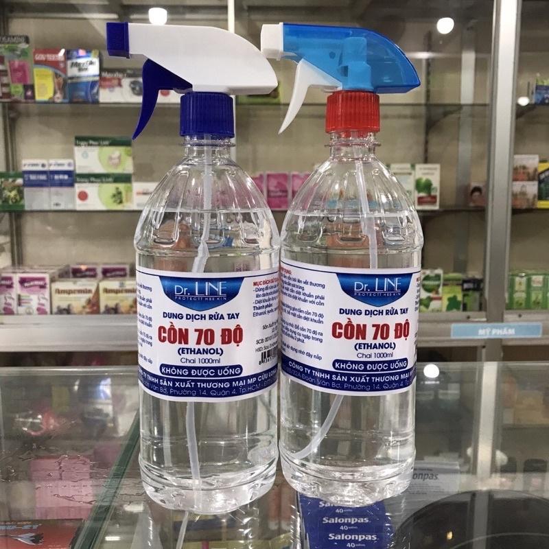 Cồn 70 độ Dr.Line Có Vòi Xịt Kháng Khuẩn Chai 500ml | Shopee Việt Nam