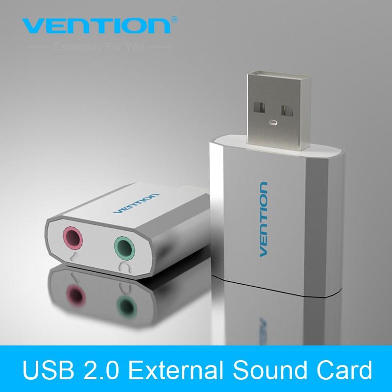 Đầu chuyển đổi USB to 2 cổng 3.5mm Vention VAB-S13 -dc2861