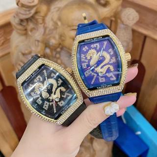 (Bảo hành 12 tháng) Đồng hồ nam Franck muller thể thao đính đá cao cấp tặng hộp và vòng tay DH402 thumbnail
