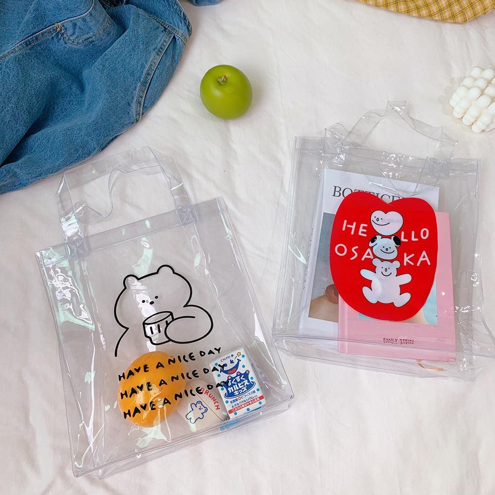 Túi Xách Nhựa Pvc Trong Suốt Hình Gấu Đáng Yêu