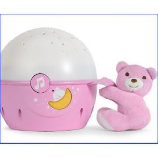 [HOT_ HOT]Đèn ngủ gắn cũi phát nhạc Gấu hồng hiệu Chicco